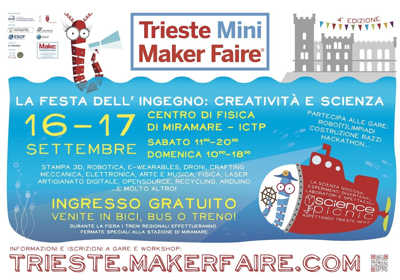 Trieste Maker Faire Trieste 16 e 17 settembre a Trieste