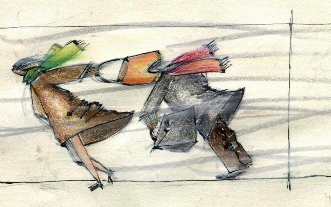 Maurizio Stagni disegno bora con coppia