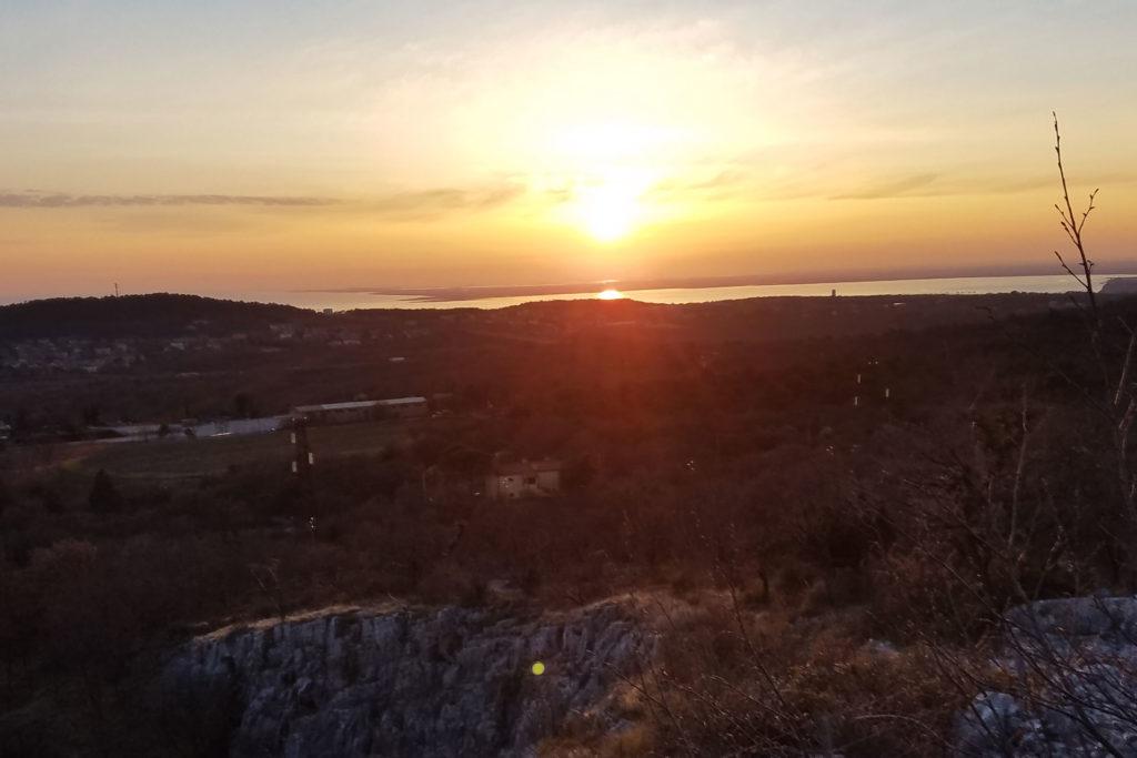 Panorama Trieste tramonto